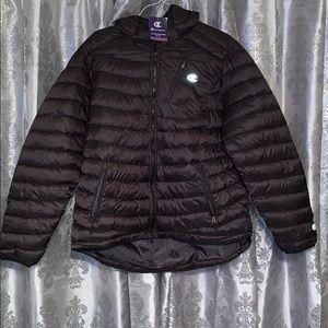 Black Champion Puffer Jacket